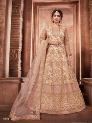 Exclusive Net Gown With Net Dupatta By Parvati Fabric