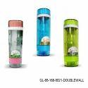 Glass Water Bottle Double Wall- 300ml-gl-88
