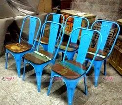 Industrial Metal Cafe - Iron Bistro - Restaurant Chairs, Size: 45x45x100 cm