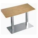 Wooden Top Restaurant Table