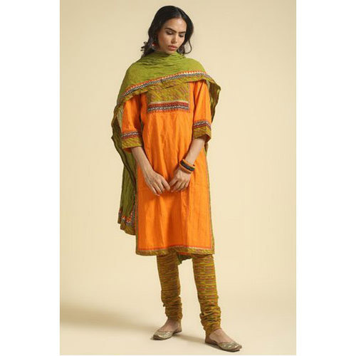 Xl Cotton 3/4 Sleeves Ladies Kurti
