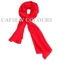 Wool Silk Cashmere Red Scarves