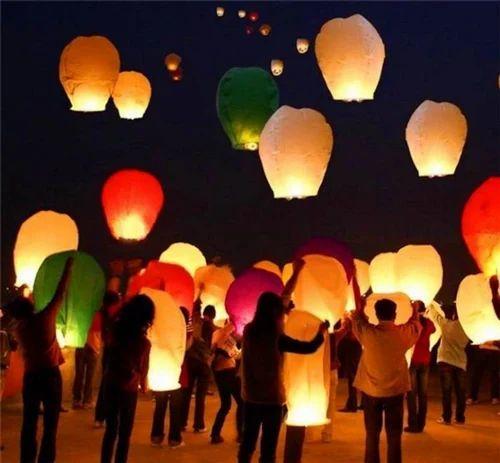e21877357a9cc Sky Lantern Glowing Kolkata Diwali Set at Rs 25  piece
