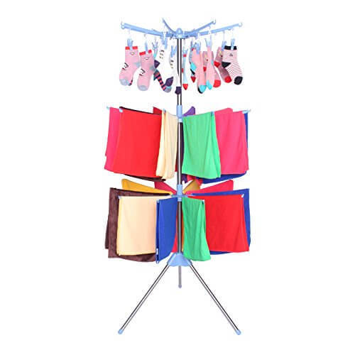 3 Layer Stainless Steel Cloth Drying Hanger Kapde Sukhaane Ka Stand