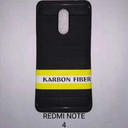 Black Fiber Mobile Cover, Packaging: Packet