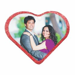 Wooden Red Sublimation Photo Frame Best Couple, For Gift, Size: 4*3.5 Inch