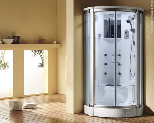 QUANTUM GLASS AND WOOD Steam Room Shower Enclosure