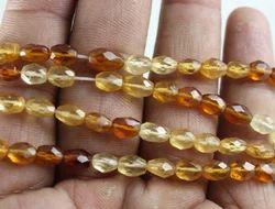 Hessonite Garnet Oval Shape Faceted Beads