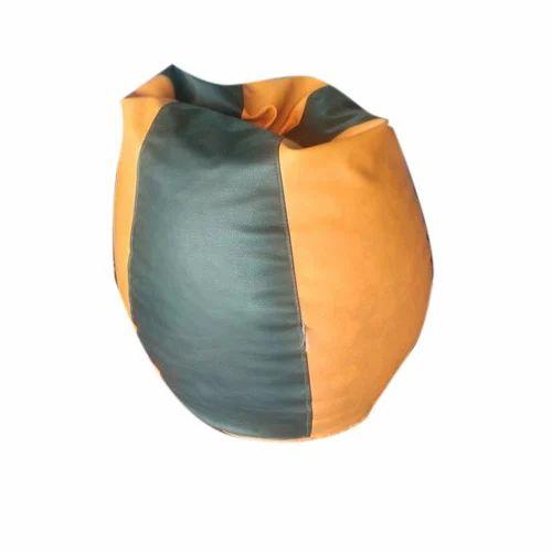 c558e67b6d86 Black And Orange Teardrop Bean Bag