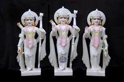 sangemermer White Makrana Marble Ram Darbar Statue, For Home, Size: 3 Feet