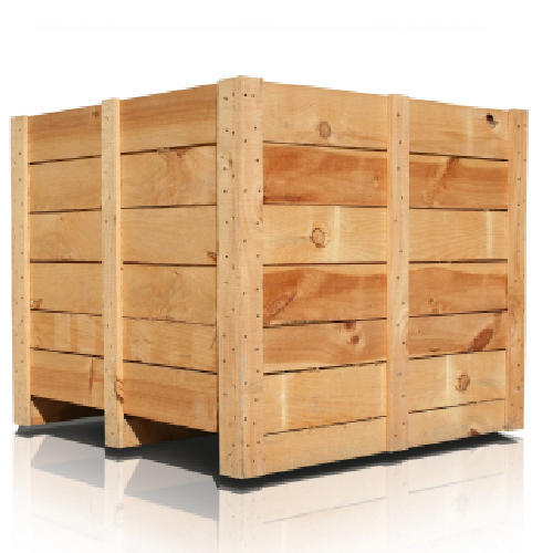 Rectangular Wooden Shipping Crate