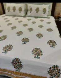 Block Printed Bedsheet