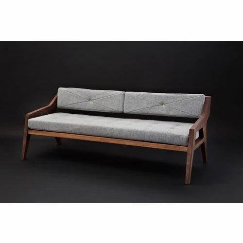 2 Seater Wooden Cushion Sofa