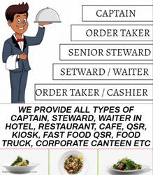 Captain / Steward / Waiter Supplier In Hotel, Restaurant, Cafe & Qsr