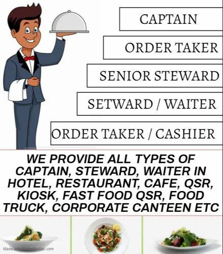 Captain / Steward / Waiter Supplier In Hotel, Restaurant, Cafe & Qsr