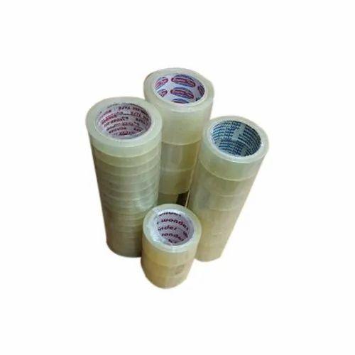 Transparent PVC Self Adhesive Tape, Thickness: 50 Micron