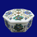 White Marble Trinket Jewelry Box