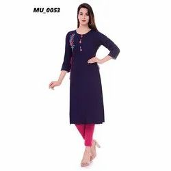A-Line Blue Ladies Kurti