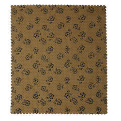 Brown Printed Cotton Shirting Fabric