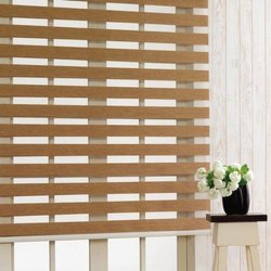 Zebra Wooden Window Blind