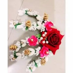 Big Red Rose Artificial Flower Hair Bun