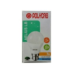 Ceramic 7W Polycab Aelius LB LED Bulb, 7 W, Features: 85% Energy Saving