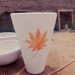 Designer Cement Conical Garden Pot