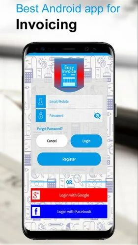 8mb Java, Android Easy Invoice Mobile Android App | ID: 15880324530