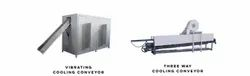 Vibrator & Three Way Cooling Conveyor