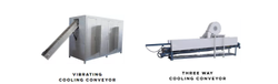 Vibrator & Three Way Cooling Conveyor