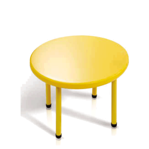 Yellow Plastic Round Table Without Chair