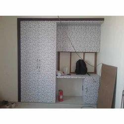 Bedroom Wooden Double Door Wardrobe, Height: 5- 8 feet