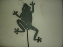 Aluminum Garden Dancing Frog