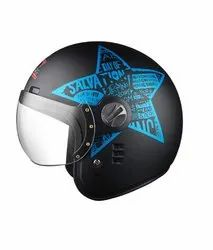 Motorcycle Helmets - Jet Flyer Classic Decor Star