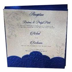 Paper Embossed Wedding Card