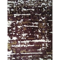 Wool And Bamboo Silk Printed Handmade Carpets, Size: 2 X 3 Feet