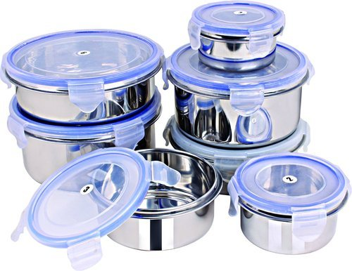 0108e09aa9 Stainless Steel - Silver Rema - Lock & Steel Storage Container (Set of 7)
