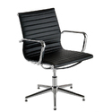 Black Color Comfortable Sleek Chair