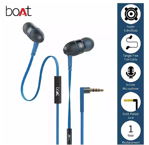 Boat BassHeads 228 in-Ear Extra Bass Earphones (with Pouch), Packaging Type: Box