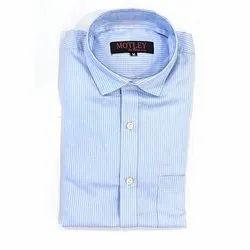 Collar Neck Mens Striped Cotton Shirt, Handwash, Size: 36-44