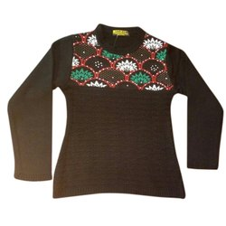 Black Girls Woolen Top