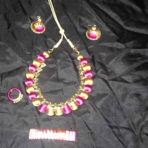 Thiranwalar Designer Silk Thread Necklace Set