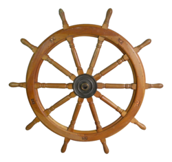 Vintage Nautical Wooden Ship Wheel