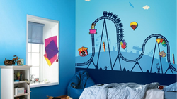 Multicolor Asian Paints Fun Fair Magneeto Theme Wall Stickers