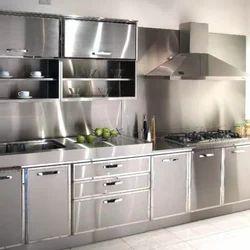 L Shape Stainless Steel Modular Kitchen