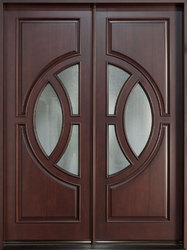 Teak wood double/Entry door