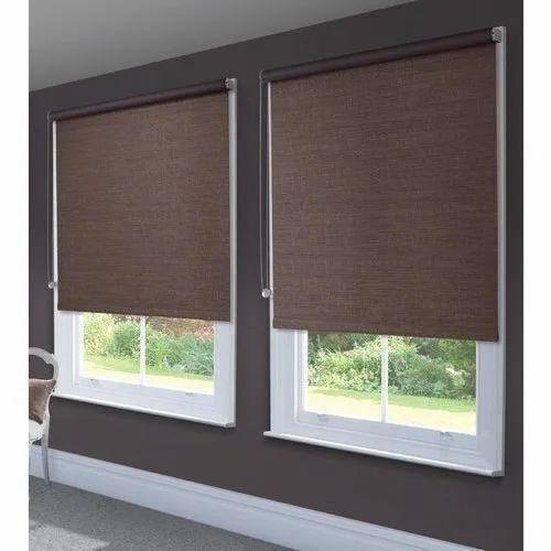 Brown Roller Blinds, Window