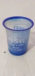 Plastic Round Blue Glass Corner Shelf, Capacity: 200ml