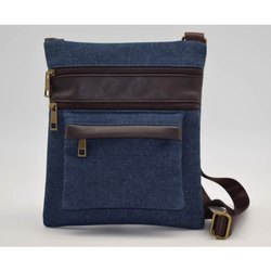 Blue Plain Premium Jeans Bag