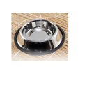 Silver Stainless Steel Non Tip Pet Bowls With Anti-skid Ring ( Side Window ), For Home Purpose